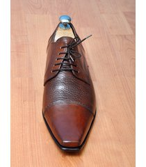 handmade mens fashion brown oxford dress leather shoes, men formal leather shoes