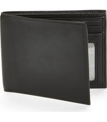 bosca 'executive id' nappa leather wallet in black at nordstrom