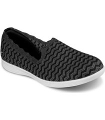 skechers women's on the go capri - wavy slip-on casual sneakers from finish line