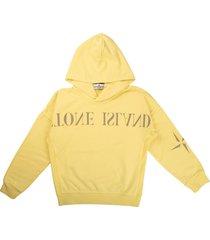 stone island closed sweatshirt with hood written lemon logo