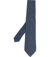 canali micro motif wool tie - blue