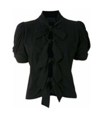 andrea bogosian t-shirt siv com laços - preto