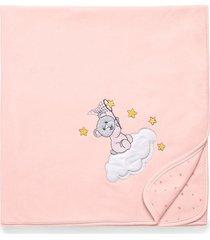 manta soft hug brilha estrelinha rosa e13612 - incolor - menina - dafiti