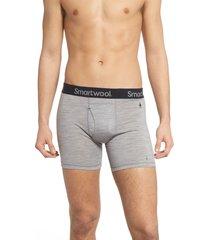 men's smartwool 150 merino wool blend boxer briefs, size xx-large - grey
