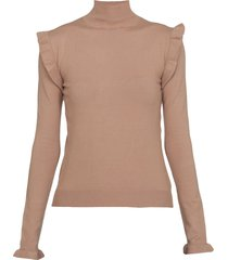 marella high neck sweater with ruches