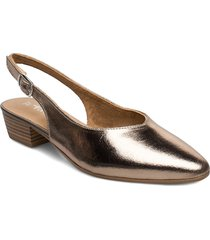 woms sling back shoes heels pumps sling backs guld tamaris