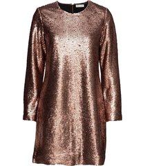 chloe, 186 sequins korte jurk bruin stine goya