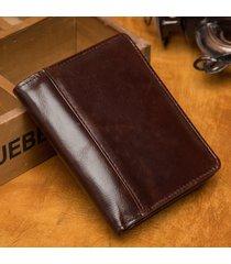 portafoglio da uomo in vera pelle vintage con portamonete