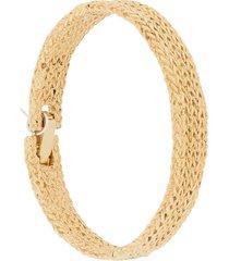wouters & hendrix knit texture bracelet - gold