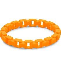 fluorescent rubber box link bracelet