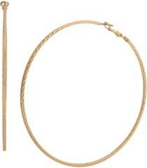 jessica simpson textured oversized hoop earrings