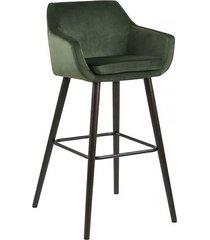 stołek barowy kelly welwet zielony