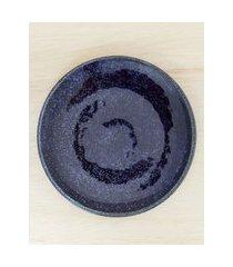 amaro feminino jogo 6 peças prato sobremesa blueberry, azul escuro