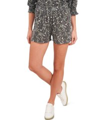 cece printed pull-on shorts