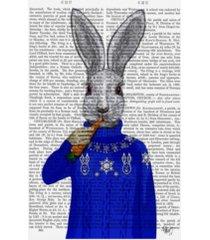 "fab funky rabbit in sweater canvas art - 15.5"" x 21"""