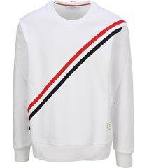 thom browne stripe sweatshirt