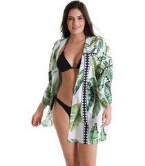 camisão com botão maya - estampa maya - feminino - feminino