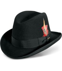 men's wool homburg hat