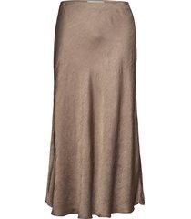 pepas knälång kjol brun violeta by mango