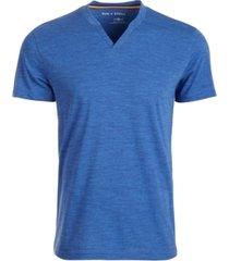 sun + stone men's eden split neck t-shirt, created for macy's
