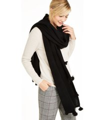 charter club cashmere tasseled scarf, created for macy's