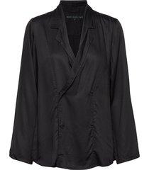 outgoing jacket blus långärmad svart moshi moshi mind