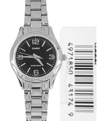 reloj casio ltp-1275d-1a2df - negro-plata