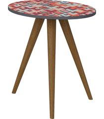 mesa lateral 500 expresso/estampa vermelha be mobiliã¡rio - vermelho - dafiti