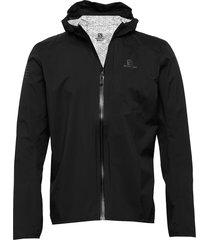 bonatti wp jkt m black outerwear sport jackets svart salomon