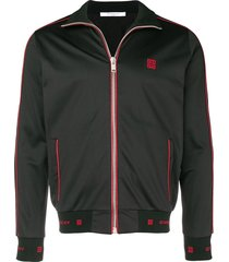 contrast zipped sweatshirt