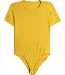 body m/c unicolor color amarillo, talla 10
