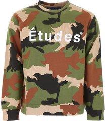 études camouflage logo sweatshirt