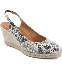 andre assous raisa slingback wedge pump, size 11 in white snake print leather at nordstrom