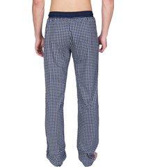 schiesser pyjamabroek jersey donkerblauwe ruit