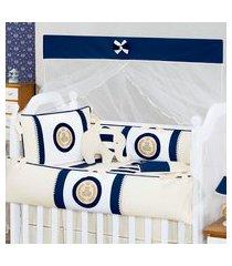kit berço clássico marinho - azul marinho - clássicos