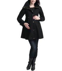 women's kimi and kai olivia wool blend maternity coat, size medium - black