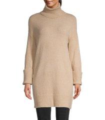 avantlook women's elongated turtleneck sweater - beige - size m