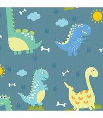 papel de parede adesivo dinossauro baby grande 57x270cm - multicolorido - dafiti