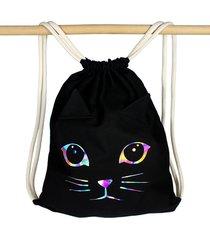 plecak cherrish kot holograficzny