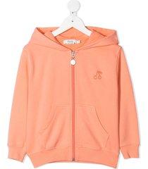 bonpoint embroidered cherry hoodie - neutrals