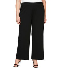 alex evenings plus size stretch-crepe wide-leg pants
