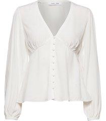 petunia blouse 10056 blus långärmad vit samsøe samsøe