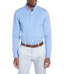 men's rhone stretch nylon button-up shirt, size x-large - blue