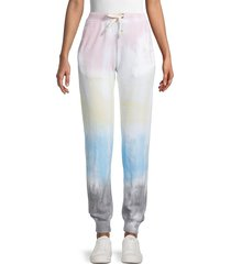sweet romeo women's rainbow striped jogger pants - rainbow - size s