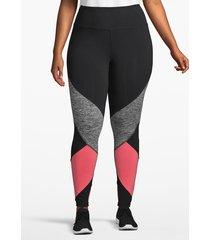 lane bryant women's active 7/8 legging - colorblock 22/24 black