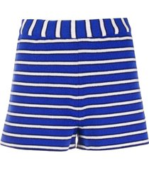 barrie striped cashmere shorts - blue