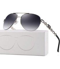 gafas lentes sol mujer fenchi piloto gradiente uv400 257a negro