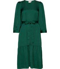 nadjagz dress bz jurk knielengte groen gestuz