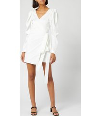 rotate birger christensen women's number 31 dress - bright white - dk 40/uk 14