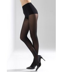 natori velvet touch high heel tights, women's, microfiber, size m/l